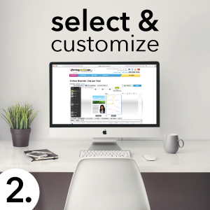 select & customize books