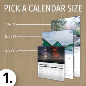 Pick a calendar size