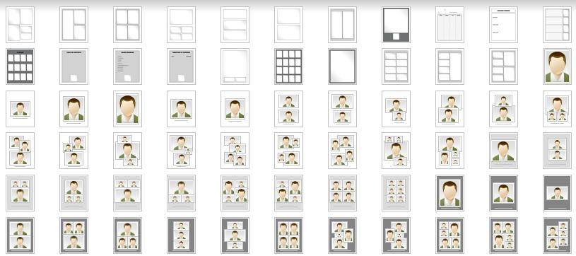 program printing templates for print